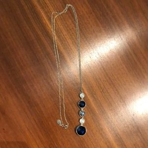 Blue and gold LOFT necklace
